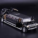 WJSM para El Automóvil para H-UMMER 1/32 Simulación Alloymetal Die Drise Case Toy Toy Tire Back Flashin (Color : Black)