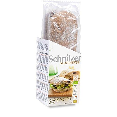 Schnitzer Oliven-Ciabattas zum Aufbacken, glutenfrei (360 g) - Bio