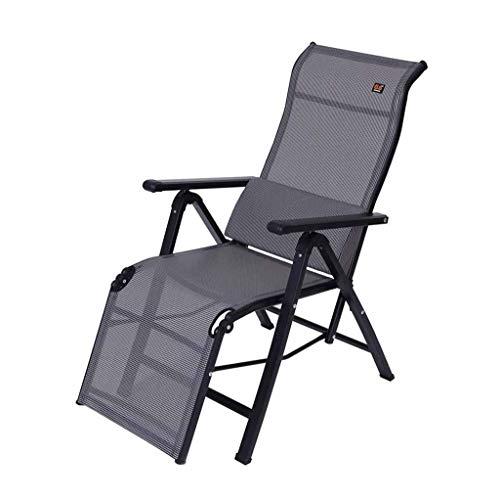 LIYONG Mittagspause Stuhl Lässig Klappstuhl Für Büro/Wohnzimmer/Balkon/Garten Zurück Sessel, Liege, Kühlen Stoff Folding Liegestuhl