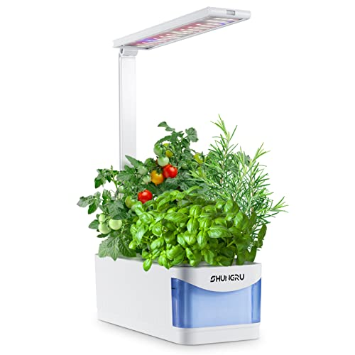 Hydroponics Growing System, 8 Pods Indoor Hydroponic Garden with Grow Light, Automatic Timer...