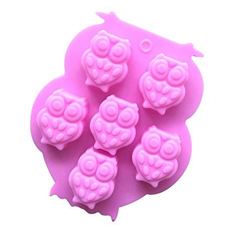 Depory süße Tier-Silikon-Kuchenform 3D Eule Form Backform Fondant Süßigkeiten Gelee Eis Kuchen Schokolade Form DIY Backwerkzeug