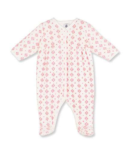 Petit Bateau Saine Polaina, Pink (Lait/Char), 3-5,5 Meses (Talla del Fabricante:3 Meses) para Bebés