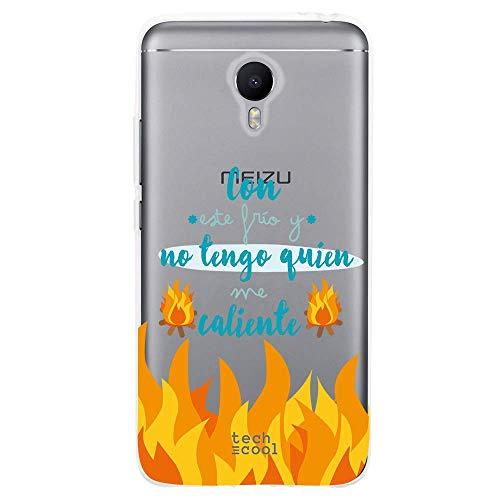 Funnytech Funda Silicona para Meizu M3 Note [Gel Silicona Flexible [Ultra Slim 1,5mm-Gran Resistencia] [Diseño Exclusivo, Impresión Alta Definición] [Diseño Frase con Este Frio. Transparente]