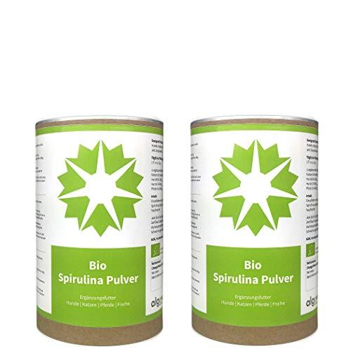 Bio Spirulina Pulver Futter-Zusatz Hund Katze Pferd Garnelen algova® (1kg)
