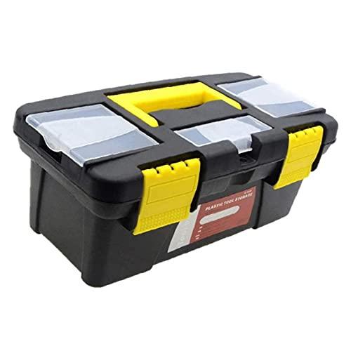 Yililay Portátil Toolbox 10 Pulgada 2 Capa de plástico Herramienta de Mano Caja de Almacenamiento de Pecho con Compartimento