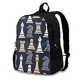 16.5 Lightweight Durable School Bags Bookbag Backpacks For Kids Teen,Chess Pieces Set College School Book Shoulder Bag Travel Daypack For Boys Girls Man Woman