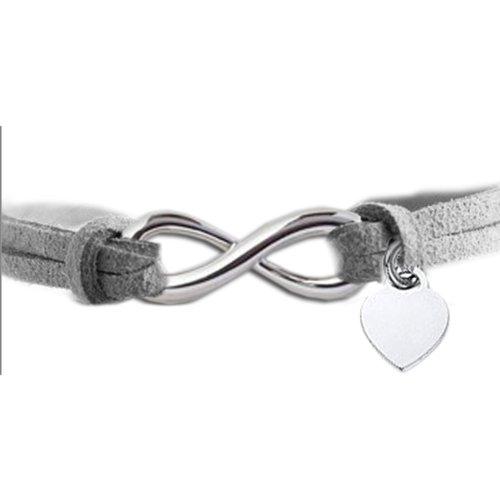 Fashionidea Jewellery - Bracciale Infinity Love simbolo infinito argento sterling 925 cuore designer inspired