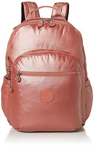 Kipling Women's Seoul XL Laptop Backpack, Metallic Rust, One Size