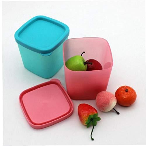 Zonster 1pc Nevera Conservación De Alimentos Contenedores, 8cm Apilable Refrigerador Cocina Stoarge Tarro, con La Tapa del Cierre De La Legumbre De Fruta (Color Azar)