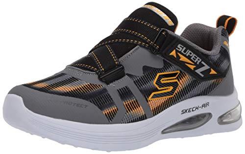 Skechers Kids Boys' Skech-AIR Dual-KNOXLER Sneaker, Grey/Black, 3 Medium US Little Kid