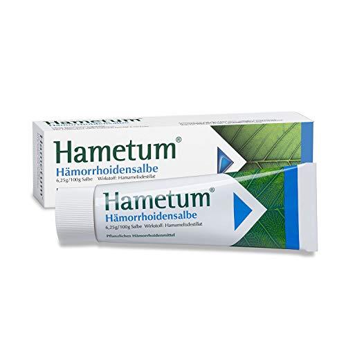 Hametum Hämorrhoidensalbe – Lindert die Beschwerden bei beginnenden Hämorrhoiden – Mit Applikator – 1 x 50g…