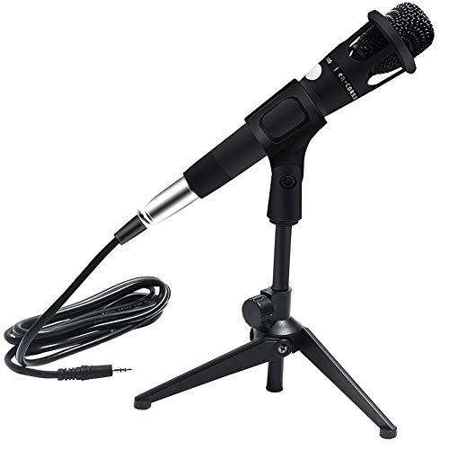 Micrófono en vivo E300, cable de condensador para grabación de audio,grabación de voz, entretenimiento de karaoke en directo, portátil,con soporte para micrófono y cable de audio XLR para micrófono