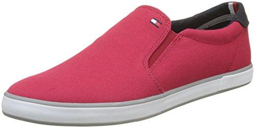 Tommy Hilfiger Iconic Slip On Sneaker, Zapatillas para Hombre, Rojo (Tango Red 611), 44 EU