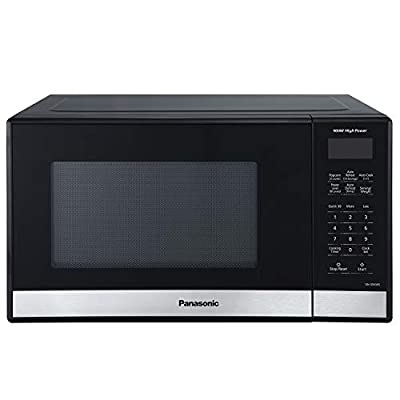 Panasonic NN-SB458S Compact Microwave Oven, 0.9 cft, Stainless Steel/Silver