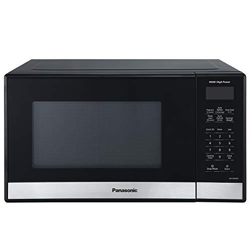 Panasonic NN-SB458S Compact Microwave Oven, 0.9 cft, Black