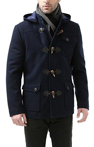 BGSD Męski płaszcz z mieszanki wełny Nathan Patch Pocket Short Toggle