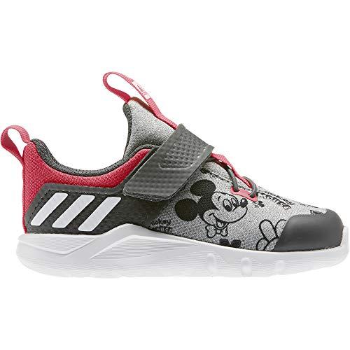 adidas Unisex Kinder Rapidaflex Mickey EL I Turnschuhe Fitness und Bewegung Baby, Grau Medium Grey Heather FTWR White Grey Six, 21 EU