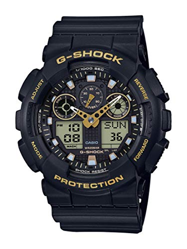 Casio Men's G-Shock XL Series Japanese Quartz Watch with Resin Strap, Black, 28 (Model: GA-100GBX-1A9)