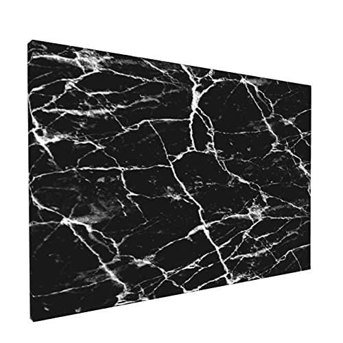 Sin Marco Mural Impresiones en Lienzo,Textura de mármol Negro Abstracto - Azulejo,Oficina en Casa Decoración Mural Pintura al óleo Arte de Moda,18' x 12'