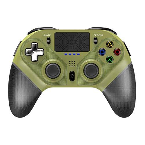 YMKT Controlador de juego inalámbrico, Bluetooth Gamepad Joystick para PS4/PS3/PC/Android/IOS teléfono móvil, soporte 6-Axis Gyro/Dual Vibración/Auriculares/Función de...