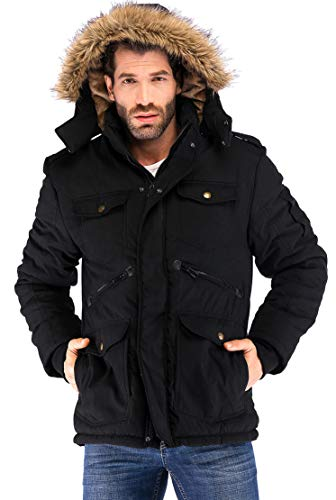 Orolay Men's Warm Parka Jacket Anorak Winter Coat with Detachable Hood ArmyGreen S