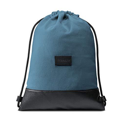 Stansøn ® Turnbeutel aus Canvas mit verschließbarer Innentasche | Daypack-Rucksack,...