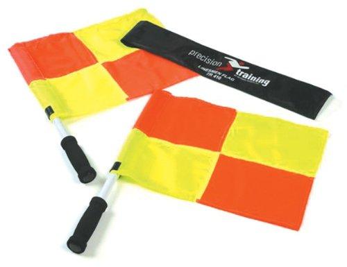 Precision Offizielle Linienrichterfahnen im Set, Orange/Gelb