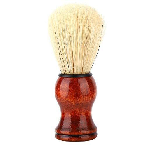 Cepillo de limpieza de peluquero, cepillo para el cuello, cepillo de afeitar con mango de madera para salón profesional y hogar(#1)