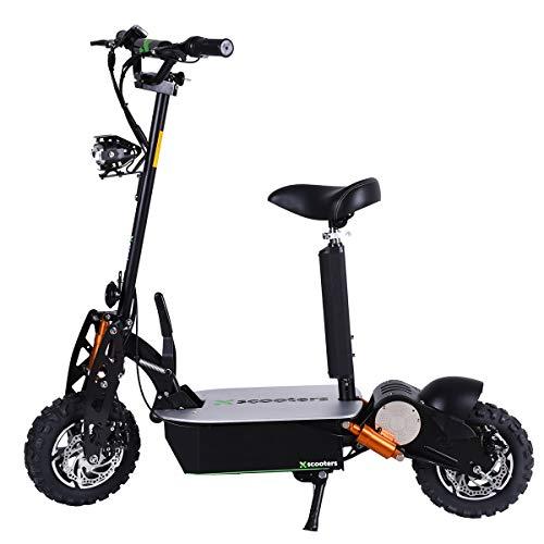 4MOVE XT03 Scooter eléctrico 50 km/h 2000 W Motor 60 V 18 Ah batería de litio, Scooter eléctrico, scooter eléctrico, pantalla LCD, frenos de disco, faros LED Negro