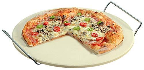 Kesper 71550 Pizzastein, gefertigt aus Cordierit-Keramik, Maße: ø 33 cm/Stärke: 1 cm