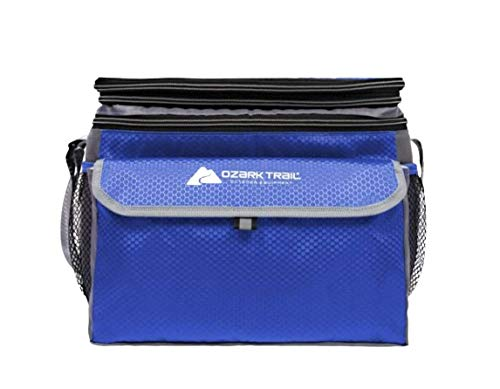 OZARK TRAIL 6 Can Cooler with Expandable Top - Blue
