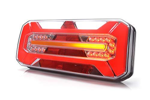 LED Rückleuchte LKW PKW Anhänger 7 Funktionen LINKS 12V-24V 1279DD L