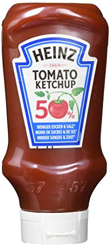 Heinz Tomato Ketchup 50% Zucker+Salz, 5er Pack (5 x 500 ml)