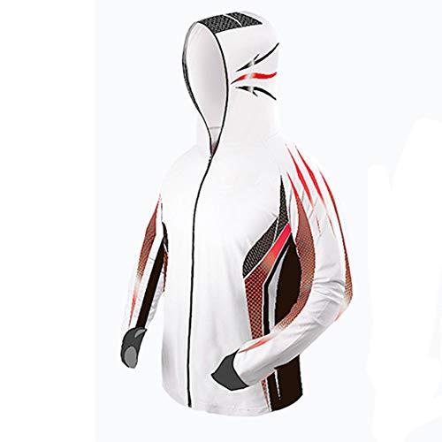 LILI Pêche en Plein Air Crème Solaire Vêtements Ultra-Mince Respirant Soie De Glace Hommes Et Femmes XL Belle Couleur Assortie Tendance D'été,3XL
