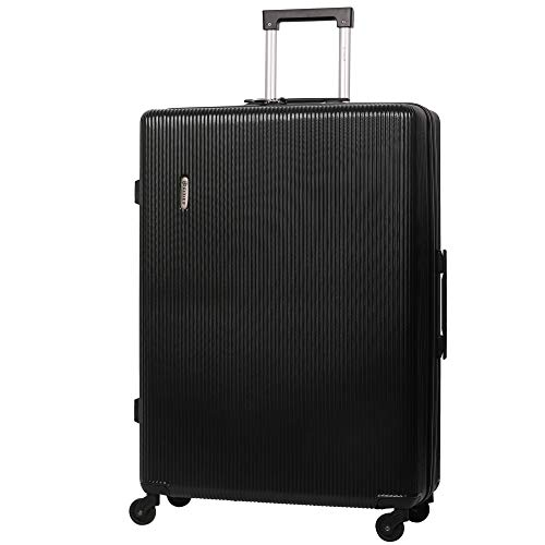 "5 Cities Large 29"" Lightweight ABS Hard Shell Hold Check in Luggage Suitcase with 4 Wheels (Black)"