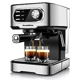 Bonsenkitchen Espresso Machine,15 Bar Coffee Machine With Foaming Milk Wand, High Performance Coffee Maker For Espresso…
