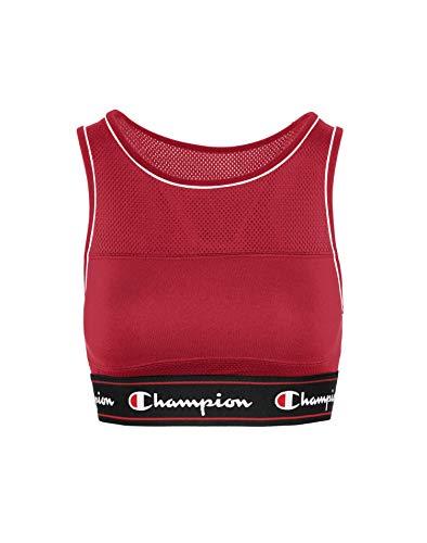 Champion Women's Fashion Sports Bra Bra, red Spark, L