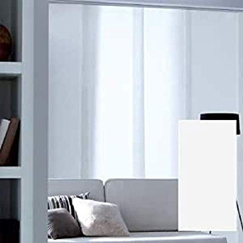 MADECOSTORE Panel japonés Tamiant Lamelles Lisos – Blanco – 45 x 260 cm