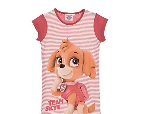 Paw Patrol offizielles Mädchen-Nachthemd mit kurzen Ärmeln, 100% Baumwolle, 2–6Jahre. Gr. 2-3 Jahre (3 Jahre Etikett), fuchsia