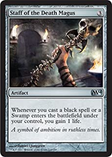 Magic: the Gathering - Staff of the Death Magus (219/249) - Magic 2014 - Foil