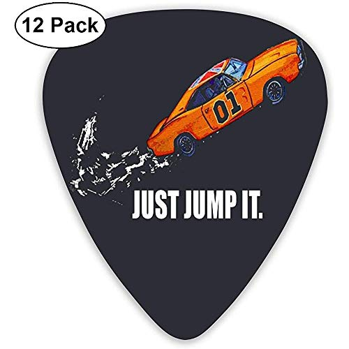 Fashion Just Jump It Die Dukes Of Hazzard-Plektren (12er-Pack) für E-Gitarre, Akustikgitarre, Mandoline