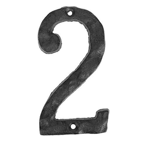 BESPORTBLE 0-9 Eisen Hausnummern Gusseisen Adressnummer Schwarz Metall Nummern Plakette Hausadresse Zeichen für Hof Tür Haus Straße