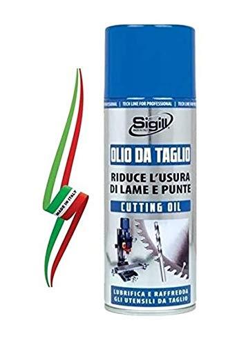 """OLIO DA TAGLIO LUBRIFICANTE SPRAY 400ml""""SIGILL"""" 100% MADE IN ITALY"""