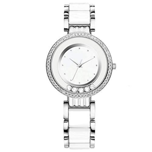 Reloj de Cuarzo para Mujer, Correa de Resina de Porcelana de imitación...