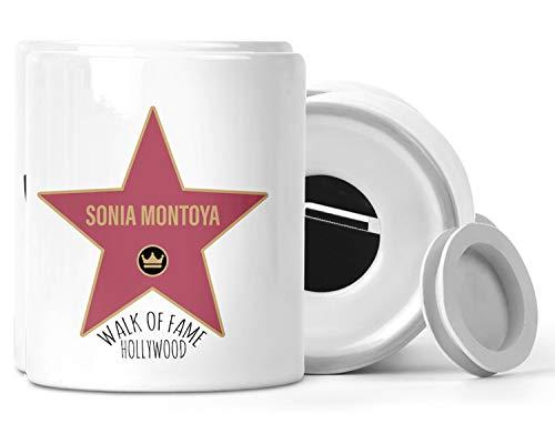Hucha Personalizada Estrellas De Hollywood Hall of Fame - Hucha Personalizable con Nombre Paseo De La Fama Famosos -Huchas Originales De Cerámica