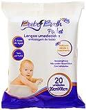 Baby Bath Pocket Lenços Umedecidos, Branco, 20 cm x 18 cm (20 unidades)