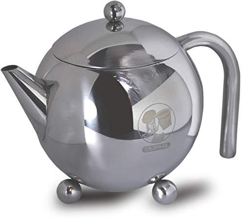 Duphil | Teekanne aus Edelstahl mit Siebeinsatz 0,7 Liter Fassungsvermögen