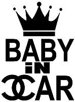 【全16色】人気!ベイビー イン カー ステッカー!Baby in car Sticker/車用/シール/Vinyl/Decal/バイナル/デカール/ステッカー/BIC-C1 (黒) [並行輸入品]