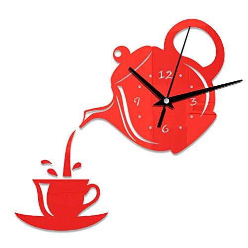 Meet Beauty Ding Creativo grande DIY 3D reloj de pared forma de...