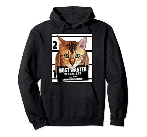 Most Wanted Bengal Cat Hoodie - Cute Funny Cat Hoodie